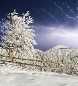 Winter Lightning damage Thundersnow